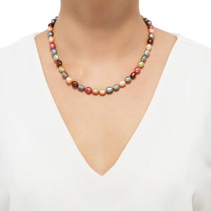 8-9 mm Gelato Rice Pearl Strand Necklace