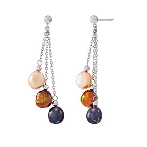 8-9 mm Lynx Baroque Pearl Chain Earrings