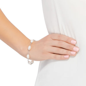9-10 mm White Pearl Color Crush Bracelet