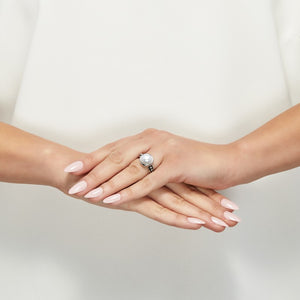 9.5-10 mm White Pearl Pallini Ring