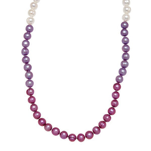 Purple Pearl Ombre Strand Necklace