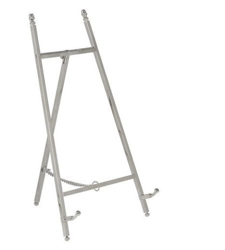 Contemporary Display Easel - Polished Nickel Finish 250mm Tall - High Quality - White Frame Company