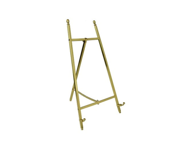 Contemporary Display Easel - Polished Brass Finish 305mm Tall - High Quality