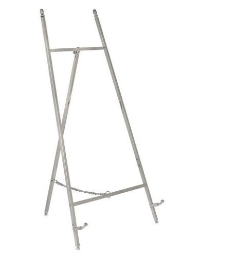 Contemporary Display Easel - Polished Nickel Finish 455mm Tall - High Quality