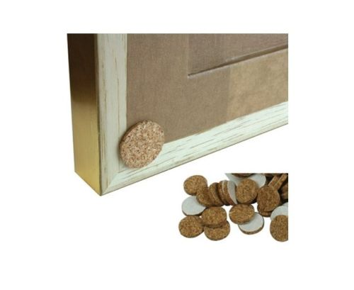 Frame Bumpers - Stops Frames Marking Walls - Self Adhesive Cork Bumpers - White Frame Company