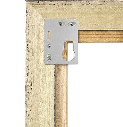 HEAVY DUTY PICTURE HANGING KIT - KEYHOLE FLAT PLATE HANGER WITH BEZEL - White Frame Company