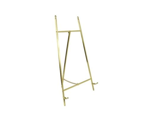 Contemporary Display Easel - Polished Brass Plate Finish 455mm Tall - High Quality - White Frame Company