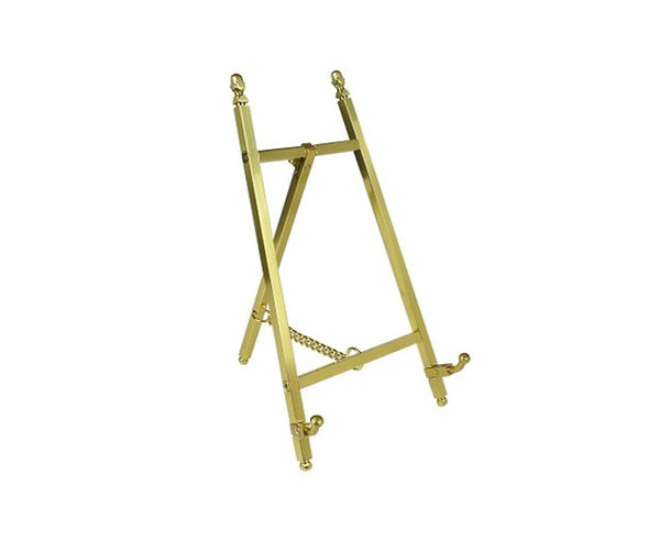 Contemporary Display Easel - Polished Brass Finish 200mm Tall - High Quality