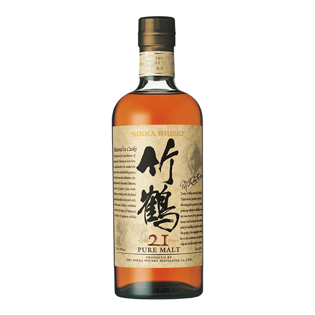 竹鶴21年威士忌 || Nikka Whisky Taketsuru Pure Malt 21 Years Slim Bottle 威士忌 Nikka 竹鶴