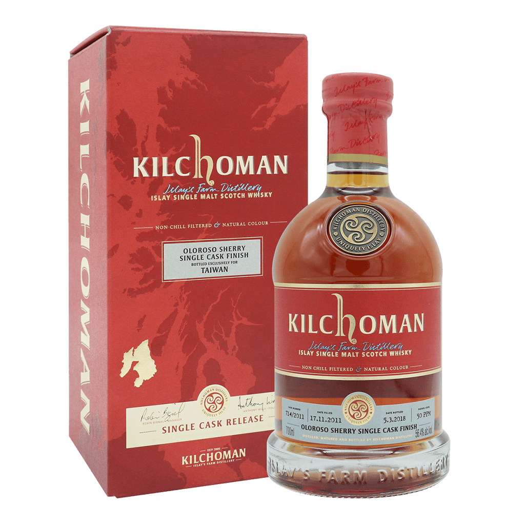齊侯門 OLOROSO SHERRY FINISH 單桶2011#714 || Kilchoman Oloroso Sherry Single Cask Finish Whisky 威士忌 Kilchoman 齊侯門
