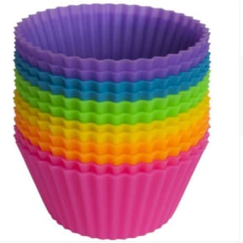 Jumbo Silicone Baking Cups (12-Pack) - Vibrant Collection