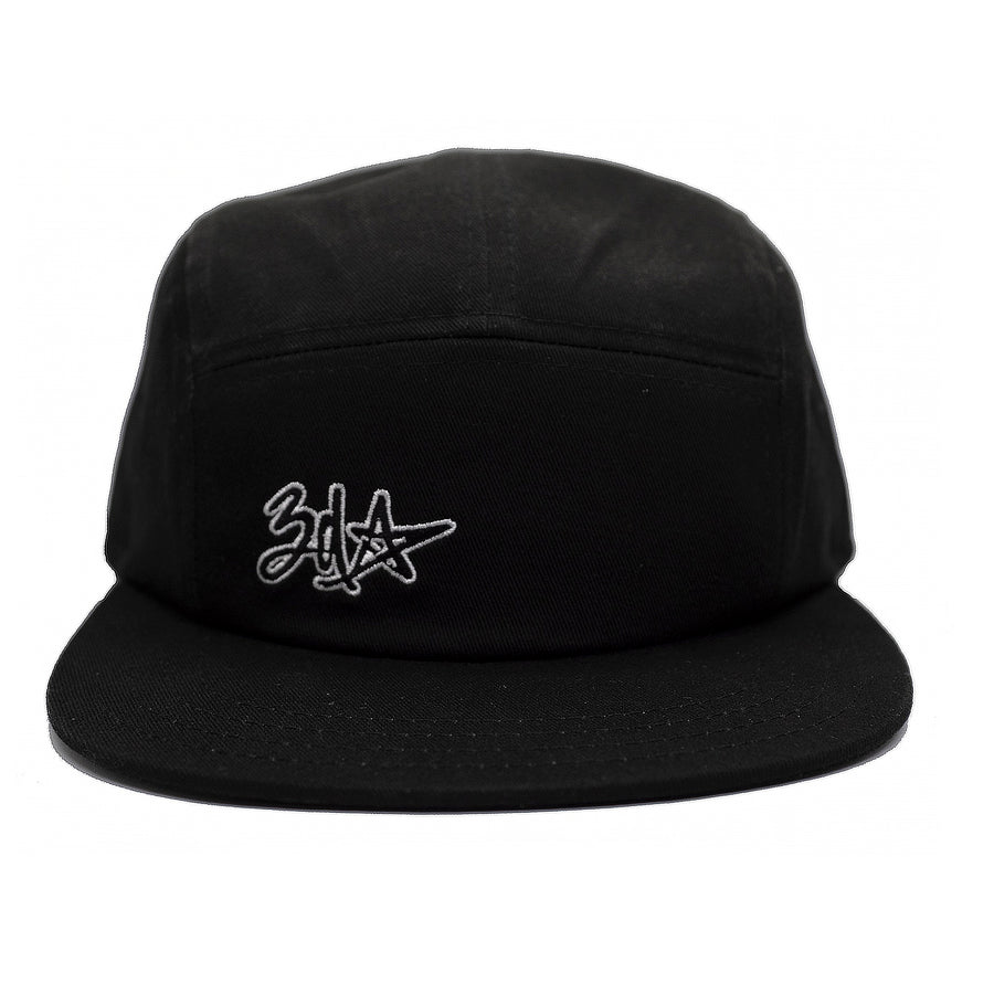 3d Star Logo 5-Panel Cap - Black