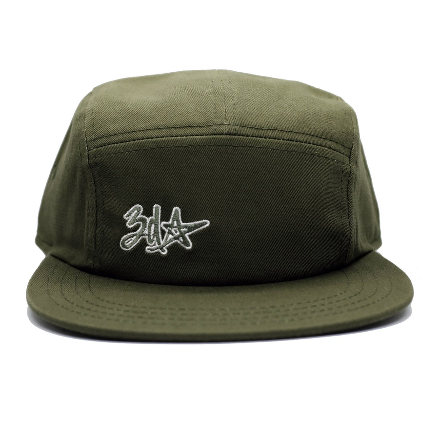 3d Star Logo 5-Panel Cap - Olive