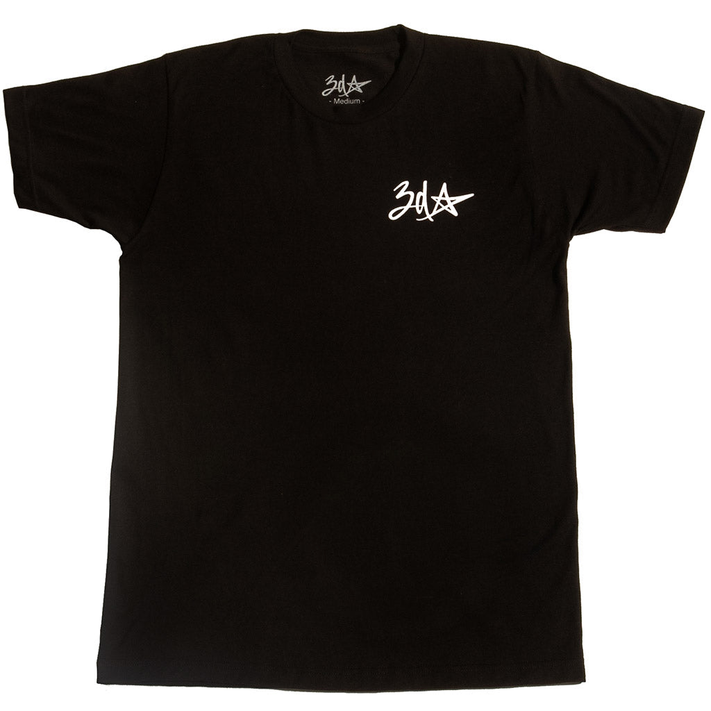 3d Star Pocket Logo T-Shirt - Black