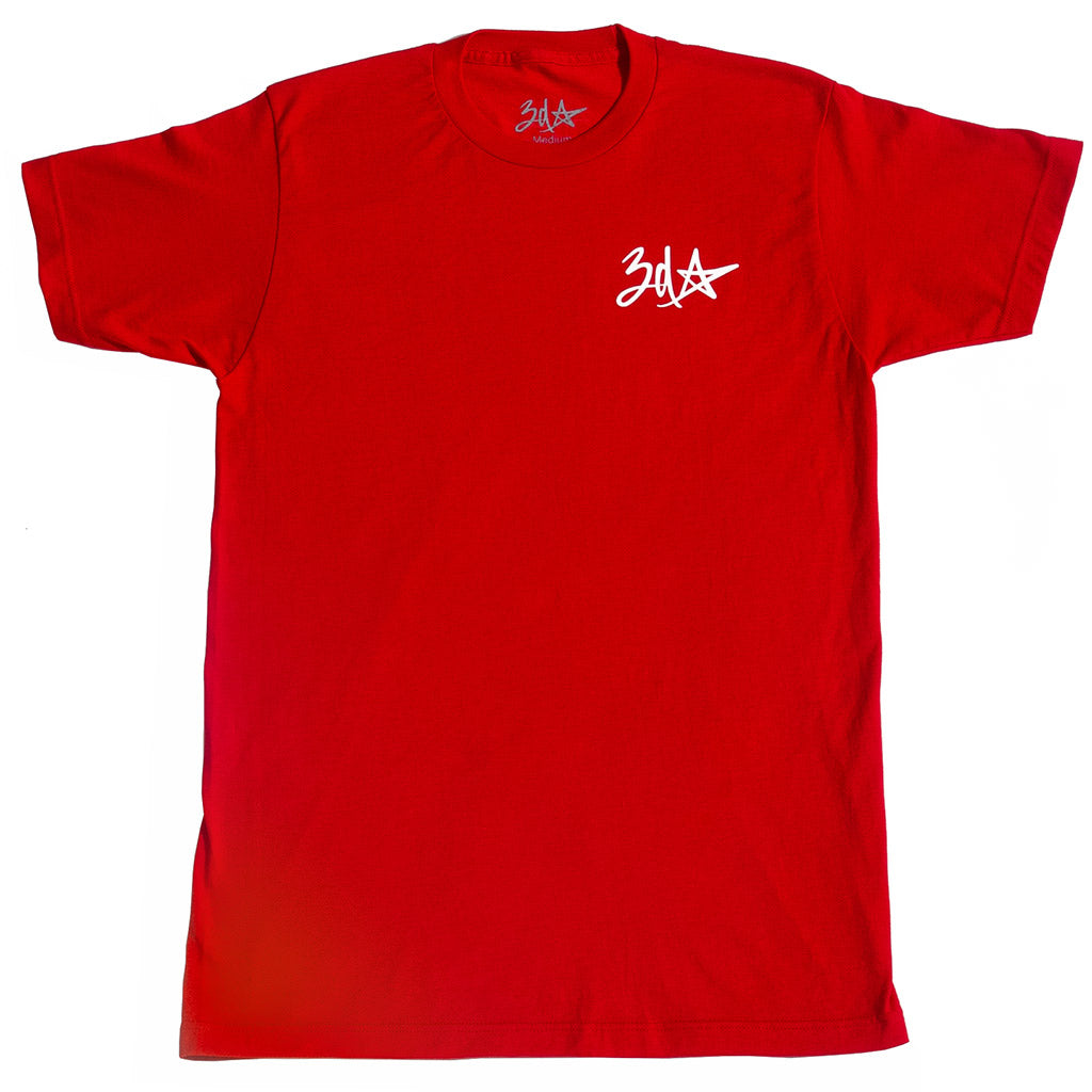 3d Star Pocket Logo T-Shirt - Red