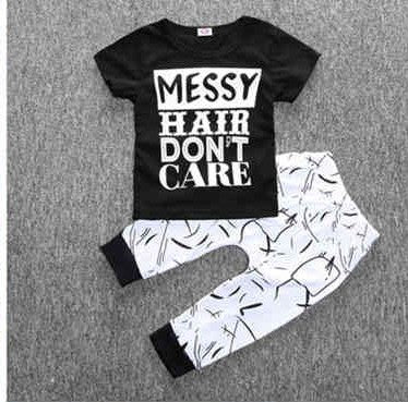 "Unisex ""Messy Hair Don't Care"" Pajamas Set!!"