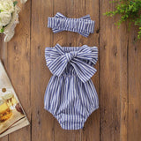 Toddler Girl Romper Strip Pattern