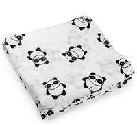 """Panda""  Cotton Muslin Baby Swaddle"