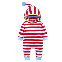 Unisex Red Striped Romper