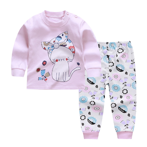 Girls Cartoon Print Sleepwear