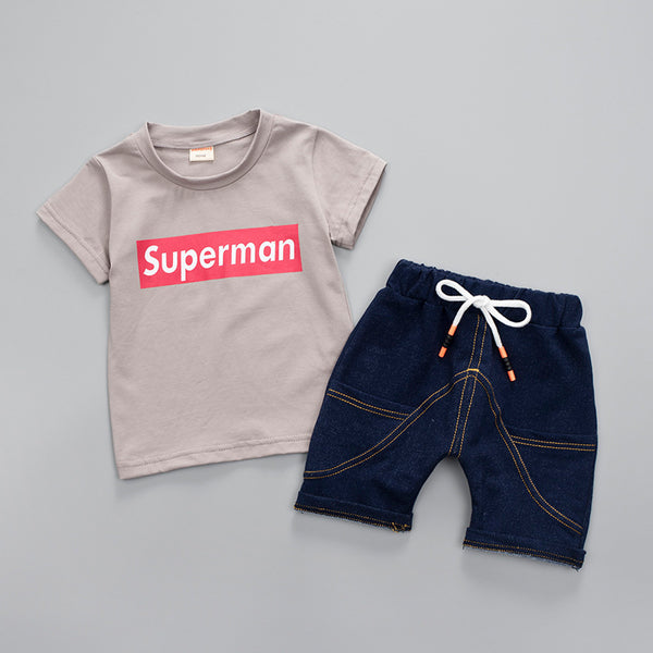 Gray Boys Short Set