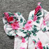 Baby Girl Flower Romper with Headband