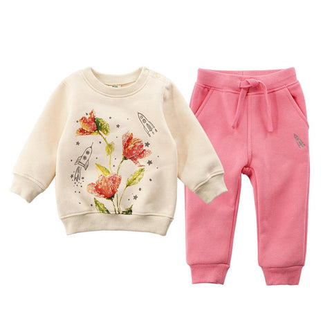 Girls Pink Sweatsuit