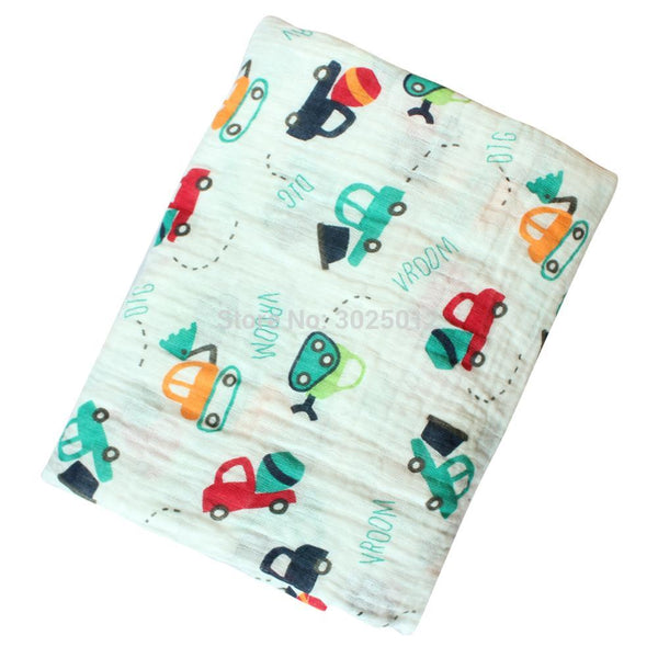 """Cars""  Muslin Swaddle Blanket"