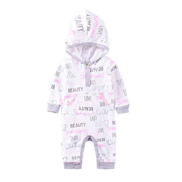 Girls Full Jumpsuit with Hoodie