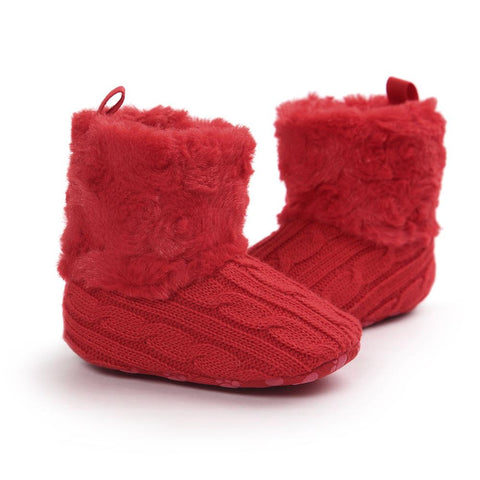 Pre-Walker Red Toddler Crochet Booties