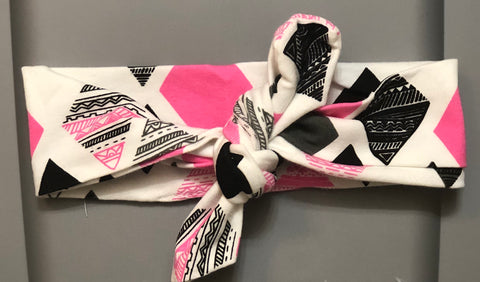 Pink/Black Printed Headband