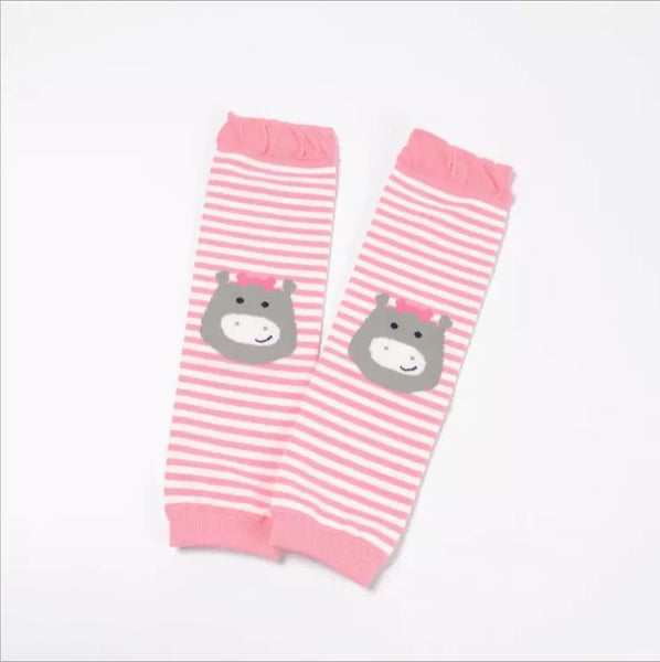 Pink Cartoon Leg Warmers