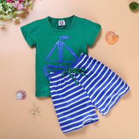 Green/ Blue Short Set