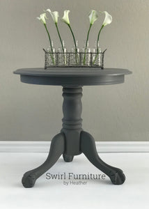 Trophy Milk Painted Lion Paw Table