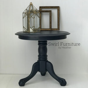 Midnight Blue Fusion Mineral Painted Lion Paw Table