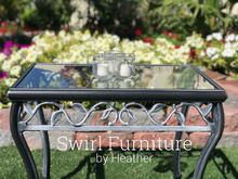 Black Outdoor Chalk Painted Table