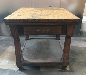 Hand Painted Plaid Buffalo table