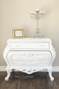 Large White Bombay Chest