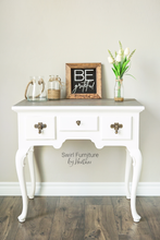 Hand Painted White Desk/Vanity