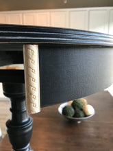 Vintage Hand Painted Drum Table