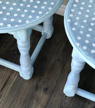 "Hand Painted Polka Dot End Table ""The Twins"""