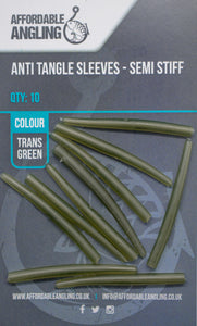 Anti Tangle Sleeves - Trans Green