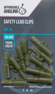 Lead Clips - Trans Green