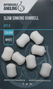 Slow Sinking Dumbell Hook Baits - White