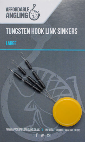 Tungsten Hooklink Sinkers - Large, Medium,Small