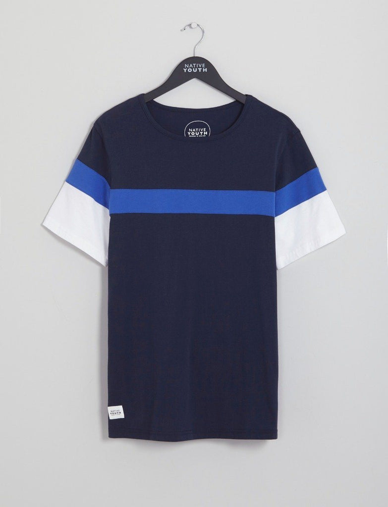 Navy Chesil Cut & Sew Tee
