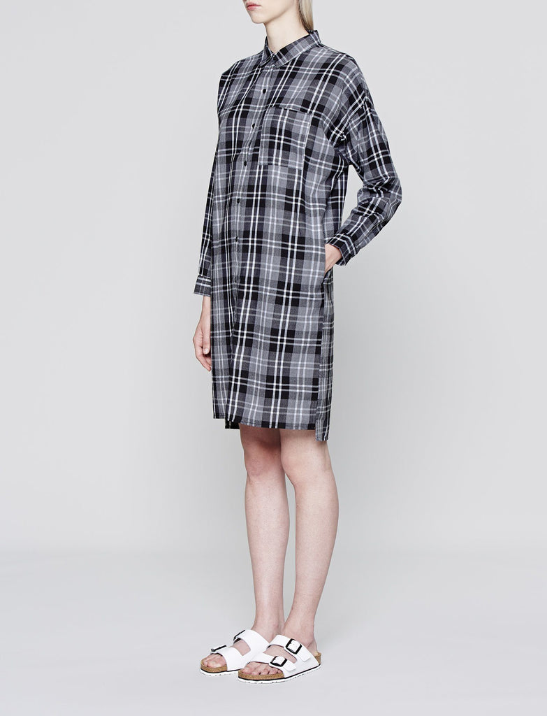 Longline Dipped Hem Shirt Dress
