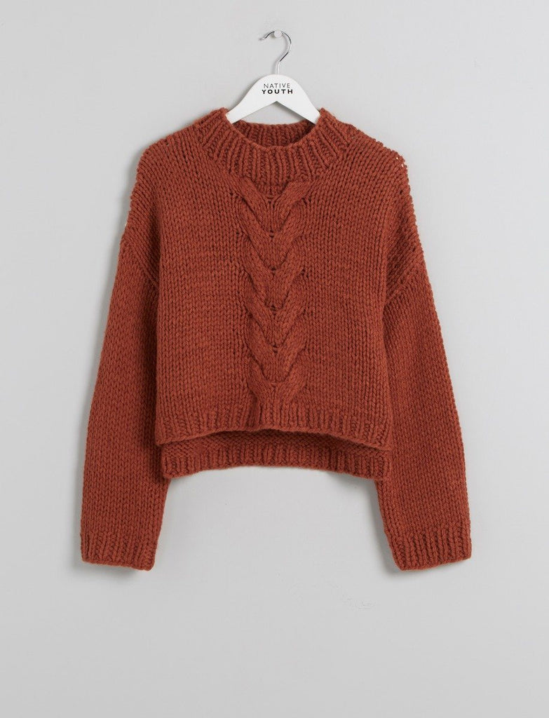 Sienna Cable Knitted Crop Jumper