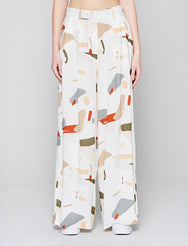 Organic Displacement Wide Leg Pants