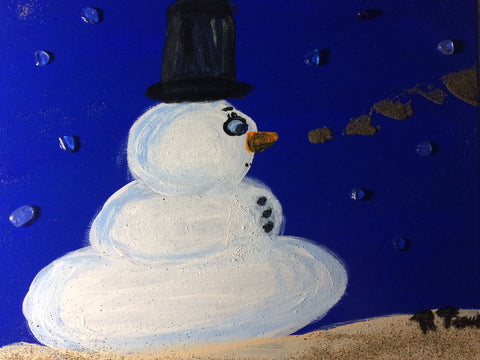 Let it snow, original painting on canvas